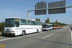 2009 - 09 27 - Brno, Přehlídka autobusů na D1 při návštěvě papeže