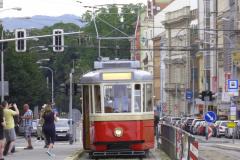 2019 - 08 17 - Brno, 150 let DPmB, Historická zastávka