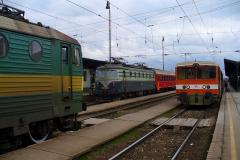 2006 - 12 09 - Žilina, 140067 na R Galán a 140001 na nákladním, západ slunka, Ostrava 140087