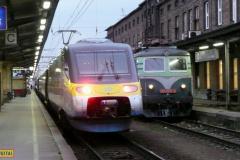 2009 - 12 12 - Prostějov a Olomouc, poslední jízda 140085 na Os, míjení Pendolinem a vystřídání s 460074